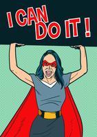 Super femme en costume de super-héros vecteur