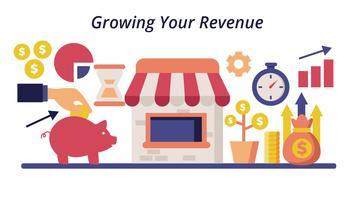 Croissance gratuite de votre illustration vectorielle de revenu vecteur
