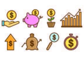 Ensemble d'icône de revenu vecteur