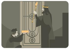 Le roi avec son vecteur sceptre