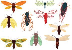 Vecteurs gratuits de mites de Cicadas