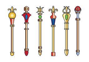 Sceptre royal de vecteur