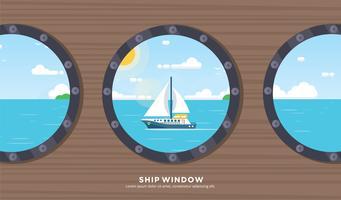 Vecteur de fenêtre de navire gratuit