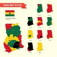 Vecteur de carte du Ghana