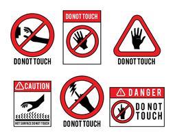 Ne touchez pas le jeu de vecteurs vecteur