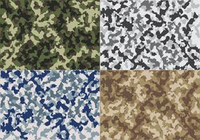 Motifs de fond de camouflage bleu marine vecteur