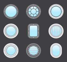 Forme et couleur de divers hublots pour les avions et les sous-marins