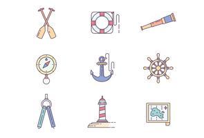 Jeu d'icônes de navire vecteur