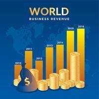 Vecteur gratuit de revenu d'entreprise