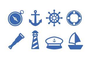 Pack d'icônes maritimes vecteur