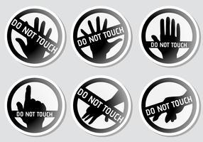 Ne pas toucher! Vecteurs vecteur