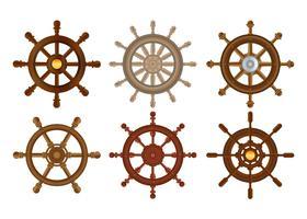 Ensemble de vecteur de roue de navire