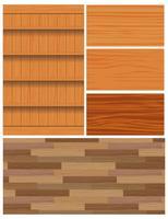 Vecteurs de fond de grain de bois vecteur