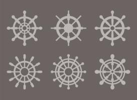 Vecteurs de Silhouette de roue de navires vecteur