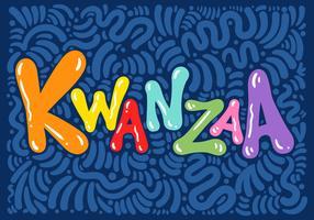 Vecteur de lettrage Kwanzaa coloré