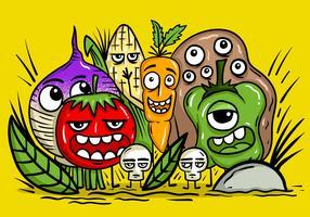 Vecteurs de caractères de légumes