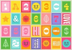 Vecteurs de timbre icône coloré vecteur