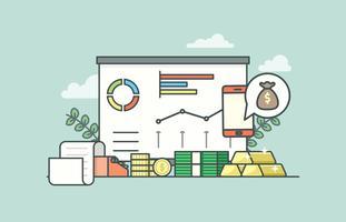 Illustration des revenus financiers vecteur