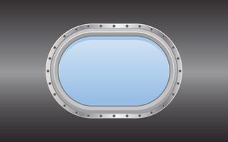 Hublot sous-marin en métal pour sous-marin vecteur