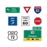 Highway Sign Vecteur gratuit