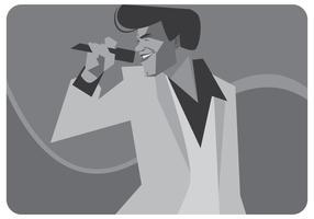 James Brown chant vecteur
