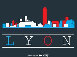 Vecteur de Lyon Skyline