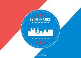 Lyon France Illustration de fond vecteur
