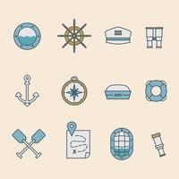 Collection de fenêtre de navire vecteur
