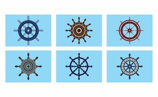 Paquet de vecteur de roue de navires