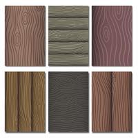 Collection de motifs vectoriels en grain de bois vecteur