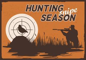 Snipe saison de chasse vecteur