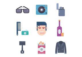 icônes de mode graisseur vecteur