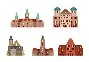 Allemagne célèbre bâtiment vecteur