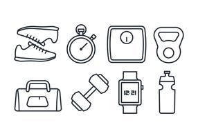 Pack d'icônes de fitness vecteur