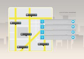 Placez la souris sur l'emplacement / programme GPS. Menu de conception de site Web. vecteur