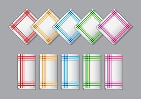 Vecteurs de serviettes décoratives vecteur
