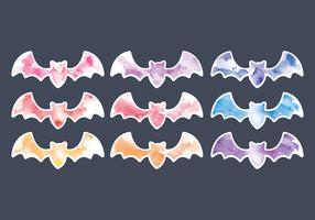 Chauves-souris aquarelles de vecteur