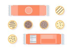 Crackers avec des vecteurs de valeur nutritive vecteur