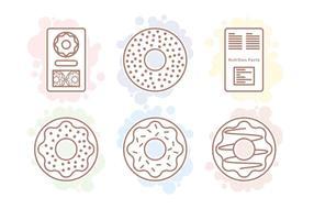 Vecteurs de bagel et de valeur nutritive vecteur