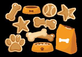 Vecteur de chien biscuit icônes