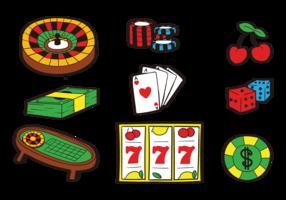 vecteur de roulette table icônes