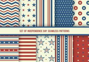 Jour de l'indépendance USA Patterns Vector