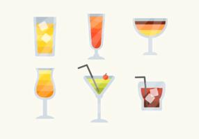 Vecteur gratuit de boissons cocktail