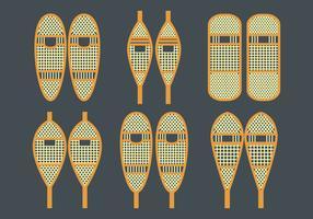 Ensemble d'icônes vectorielles en raquettes à neige