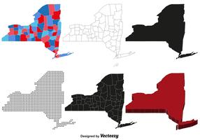 Carte de vecteur de New York