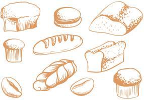 Vecteurs de pains gratuits vecteur