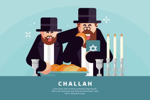 Illustration de la Challah vecteur