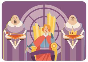 Vecteur de roi et de serviteurs