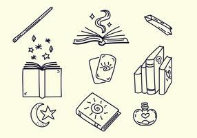 Livres de sorcellerie vecteur