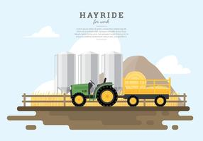 Hayride Wheat Field vecteur libre